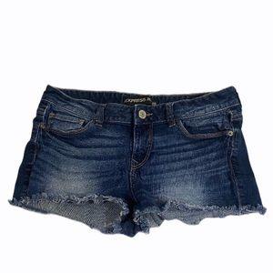 Express Jeans Distressed Cutoff Denim Shorts 6